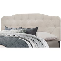 Hillsdale Nicole Upholstered Panel Headboard w/o Frame in Fog