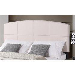 Hillsdale Southport Upholstered Panel Headboard w/o Frame in Ecru
