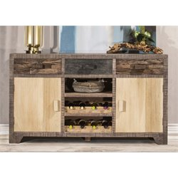 Hillsdale Bolero 2 Door Sideboard with Wine Rack in Sand Brushed
