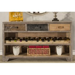 Hillsdale Bolero Console Table with Wine Rack in Sand Brushed