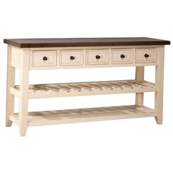 Hillsdale Tuscan Retreat 5 Drawer Console Table with Wine Rack
