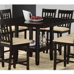 Hillsdale Tabacon Cappuccino Counter Height Gathering Dining Table in Cappuccino