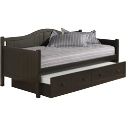 Hillsdale Staci Wood Daybed in Black Finish With Trundle