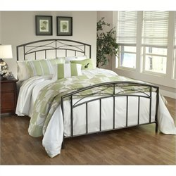 Hillsdale Morris Metal Bed in Sand Silver