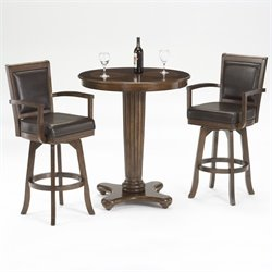 Hillsdale Ambassador 3 Piece Pub Table with 2 Stools in Rich Cherry