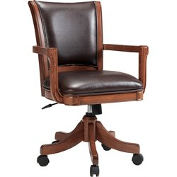 Hillsdale Park View Arm Office Chair in Medium Brown Oak