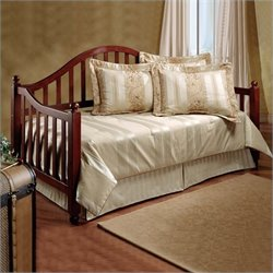 Hillsdale Allendale Wood Daybed in Cherry Finish with Roll-Out Trundle