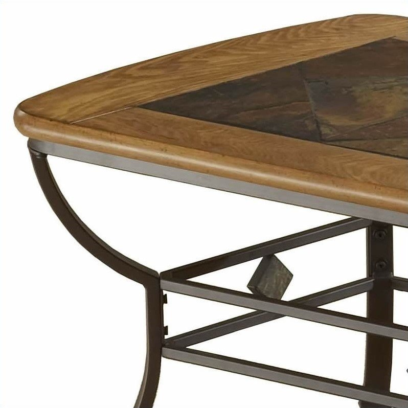 Hillsdale lakeview rectangle slate top coffee table in brown 4264otc Slate top coffee tables