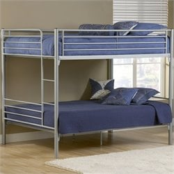 Hillsdale Universal Youth Metal Bunk Bed in Silver