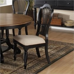 Hillsdale Wilshire Fabric  Dining Chair in Black Finish (Set of 2)