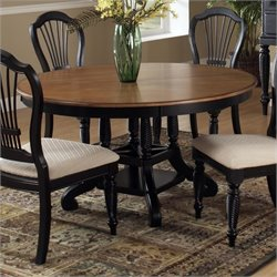 Hillsdale Wilshire Casual Dining Table in Black and Pine Finish
