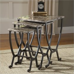 Hillsdale Monaco Nesting Tables in Matte Espresso Finish