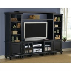 Hillsdale Grand Bay Large Entertainment Wall Unit in Black