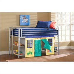 Hillsdale Universal Junior Bookcase Loft Bed in Silver