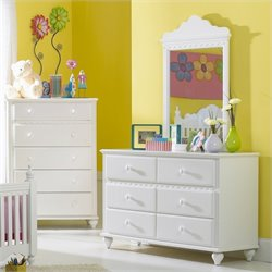 Hillsdale Lauren Double Dresser and Mirror Set