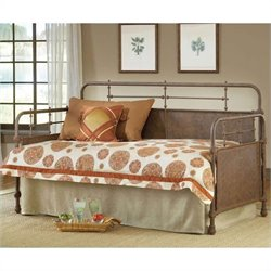Hillsdale Kensington Metal Daybed in Old Rust