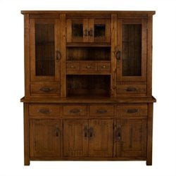 Hillsdale Outback Buffet And Hutch in Distressed Chestnut