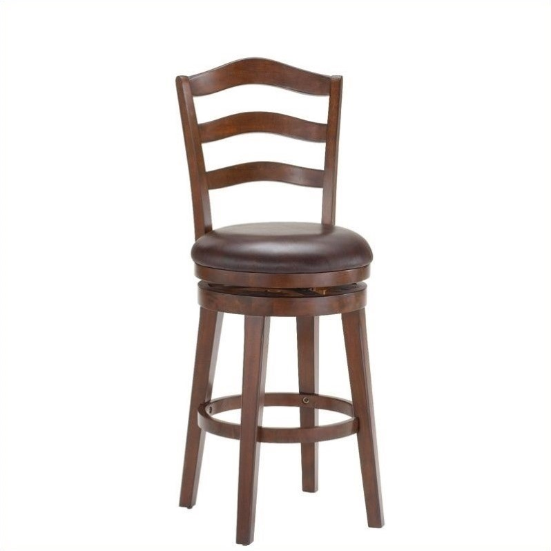 Hillsdale Windsor 30 Quot Swivel Bar Stool In Brown Cherry