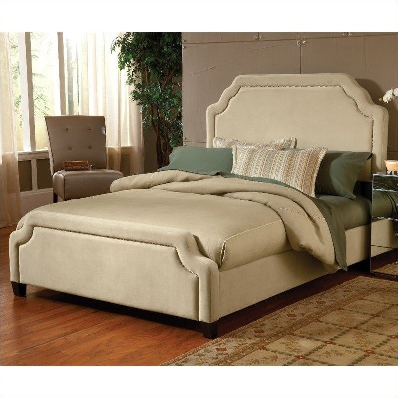 Hillsdale Carlyle Upholstered Bed in Buckwheat
