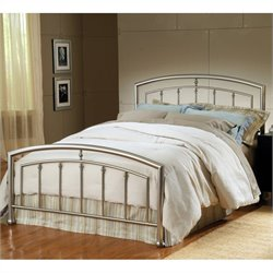 Hillsdale Claudia Bed in Matte Nickel