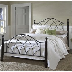 Hillsdale Vista Poster Bed in Silver and Espresso