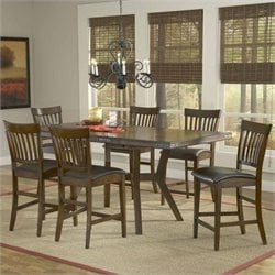 Hillsdale Arbor Hill Counter Height Dining Set in Chestnut