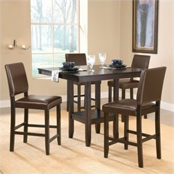 Hillsdale Arcadia 5 Piece Counter Height Dining Set in Espresso