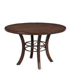 Hillsdale Cameron Round Wood Dining Table with Metal Ring