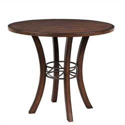 Hillsdale Cameron Wood Counter Height Table in Chestnut Brown