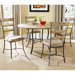 Hillsdale Charleston 5 Piece Round Wood Top Dining Set