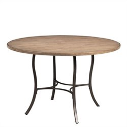 Hillsdale Charleston Round Metal Dining Table in Tan
