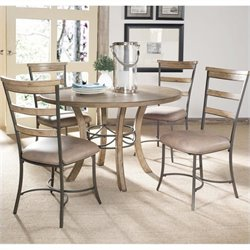 Hillsdale Charleston 5 Pc Round Wood Dining Set