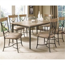Hillsdale Charleston Rectangular Dining Set with X Back Chairs