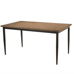 Hillsdale Charleston Rectangle Dining Table in Desert Tan