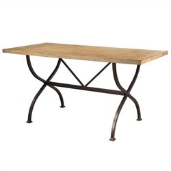 Hillsdale Charleston Rectangular Counter Height Dining Table in Tan