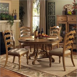 Hillsdale Hamptons Dining Set in Weathered Pine
