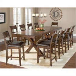 Hillsdale Park Avenue Counter Height Dining Set in Dark Cherry