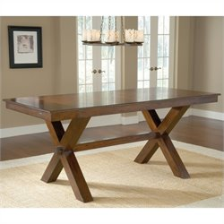 Hillsdale Park Avenue Counter Height Trestle Dining Table in Cherry