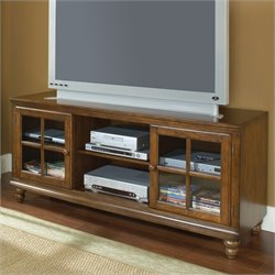 Hillsdale Grand Bay TV Stand in Warm Brown