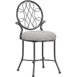 Hillsdale O'Malley Vanity Stool in Gray