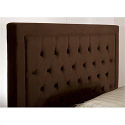 Hillsdale Kaylie Tufted Panel Headboard in Chocolate