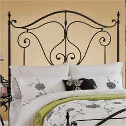 Hillsdale Caffrey Headboard with Rails in Dusty Bronze Finish