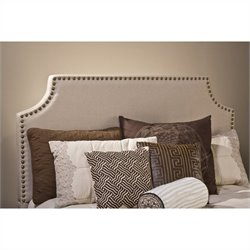 Hillsdale Dekland Panel Headboard with Rails in Ivory