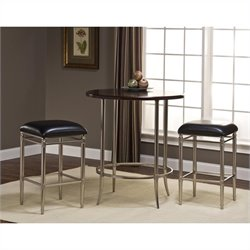 Hillsdale Maddox Bar Height 5 Piece Bistro Set in Espresso and Nickel