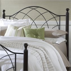 Hillsdale Vista Spindle Headboard with Rails in Silver and Black