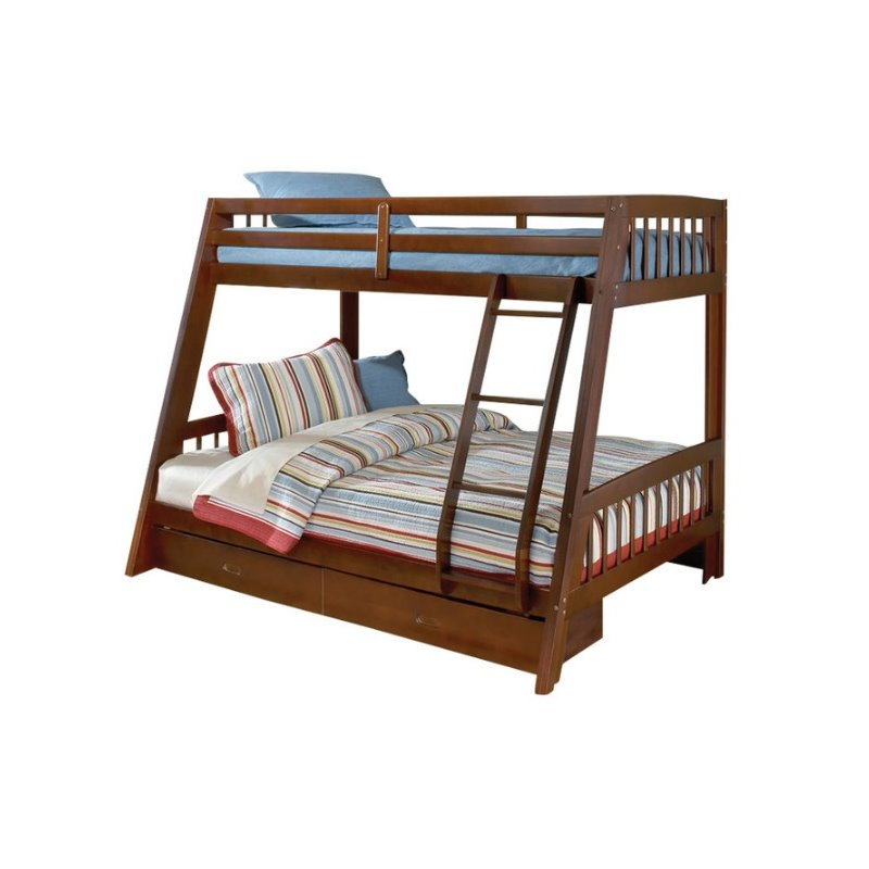 Hillsdale Rockdale Twin Over Full Bunk Bed In Cherry 1608bb