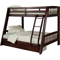 Hillsdale Rockdale  Twin over Full Bunk Bed Set in Espresso