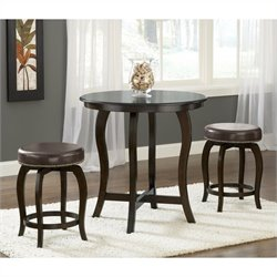 Hillsdale Wilmington 5-Piece Counter Height Pub Set in Cappucino