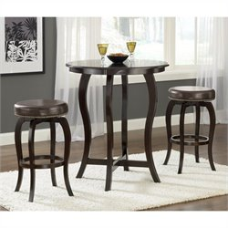 Hillsdale Wilmington 5 Piece Bar Height Bistro Set in Cappucino