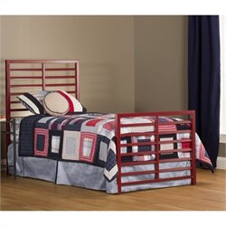 Hillsdale Latimore Twin Bed Set in Red